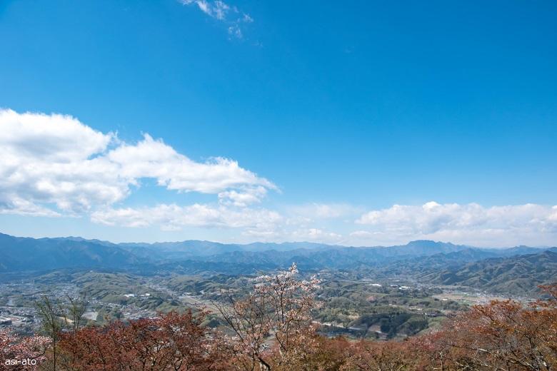 美の山公園 展望台からの景色