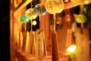 川越氷川神社 夜の縁むすび風鈴