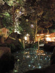 川越氷川神社 光る川