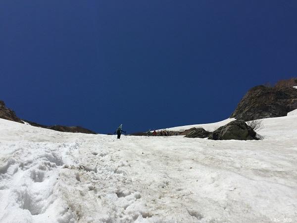 白馬大雪渓 葱平