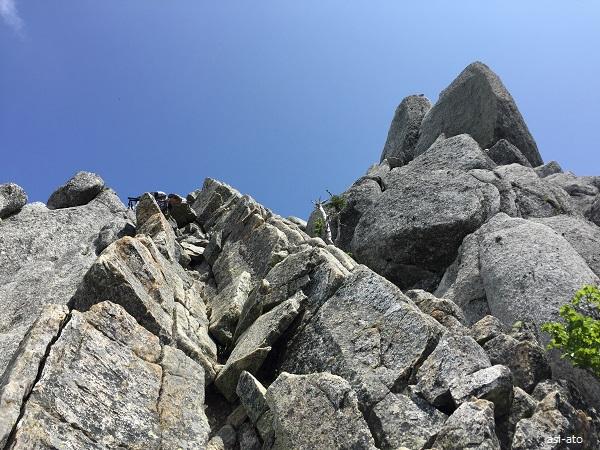 オベリスクを登る